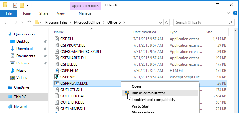 Office not Activating in App Layering (incl  MCS Image Prep