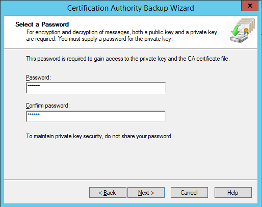 How to Export Internal Root CA with Private Key from