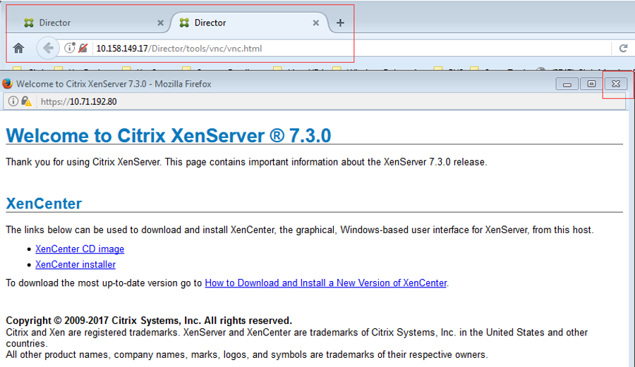 How to access XenServer hosted VDA's console from Citrix Director