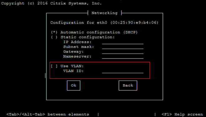 How to use tagged VLAN Network on management interface