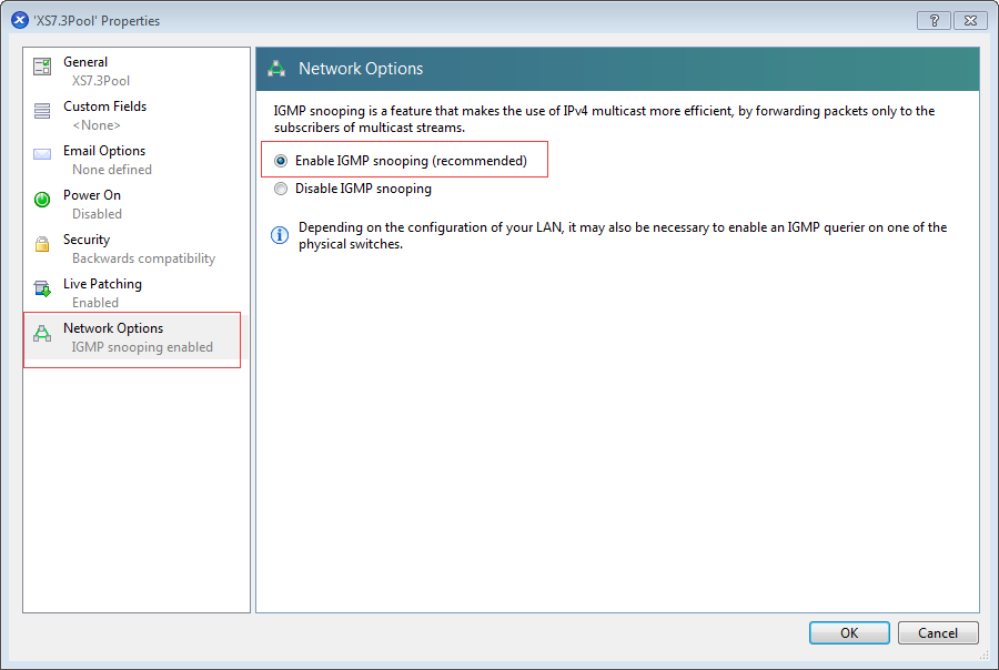 How to enable IPv4 Multicast Support on XenServer
