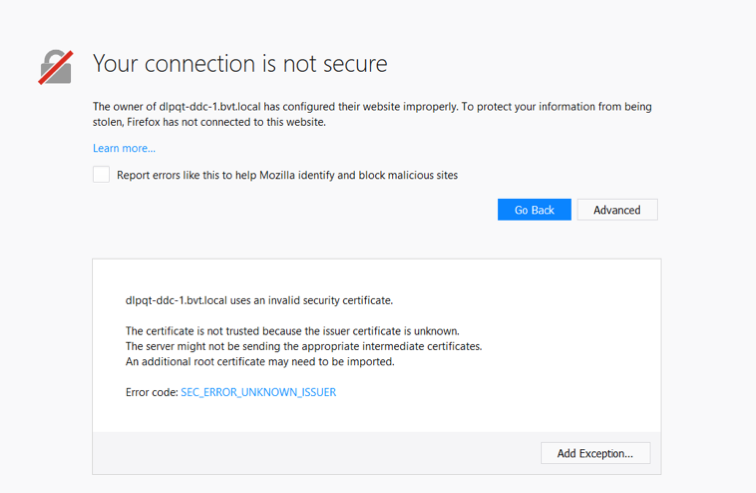 Connection failures due to SSL certificate errors with Citrix