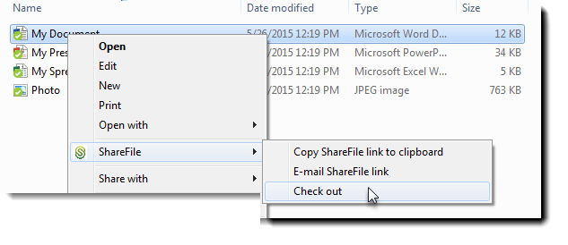 How to use the Check In/Check Out feature on ShareFile Sync