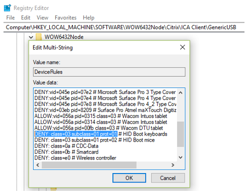 HID and some other type of USB device fail to redirect