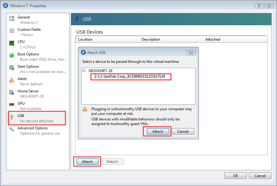 How to configure USB Passthrough with XenServer