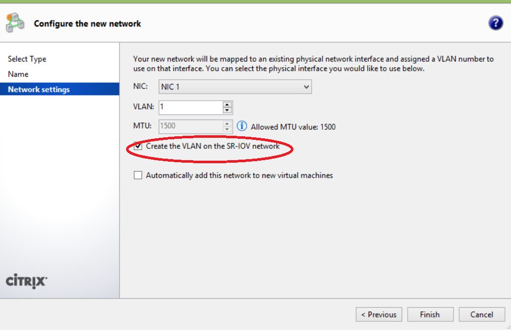 How to Use SR-IOV Feature in XenServer