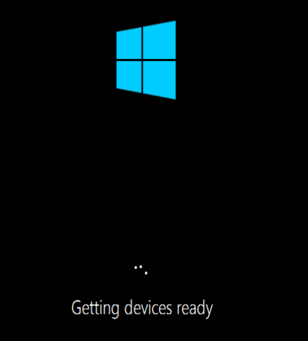 Windows 10 target devices are stuck at