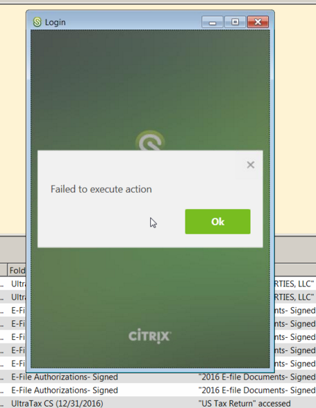 ShareFile 'Failed to Execute Action' with Desktop App and