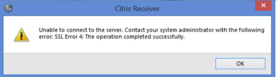 Receiver for Windows 4 11 | Error