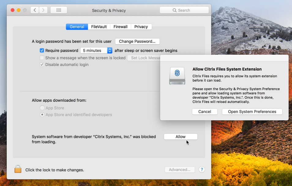Citrix Files for Mac Known Issues
