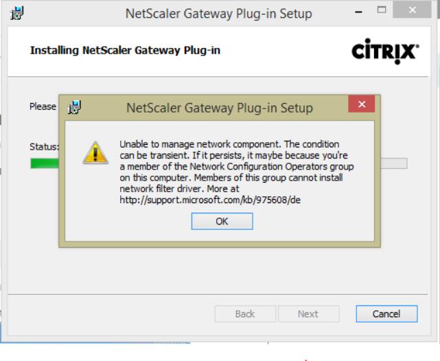 Access Gateway VPN client on Windows 10