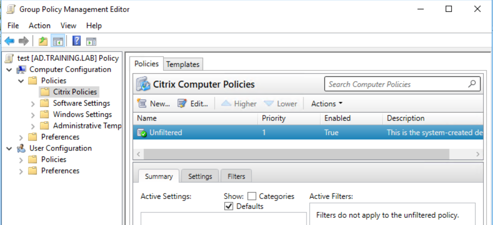 How to manage Citrix GPOs outside of the DDC using MS' gpmc?