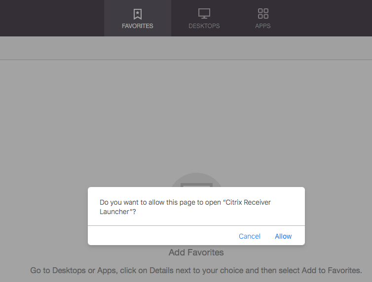 Citrix Workspace App Launcher is unable to launch applications