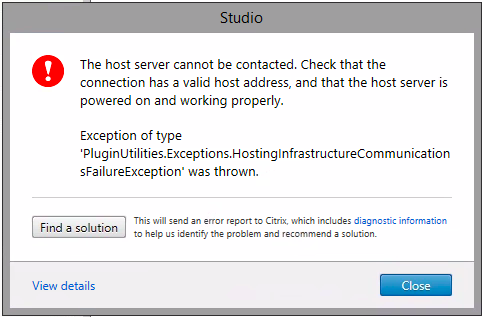 Unable to create AWS hosting connection on Citrix Cloud DDC when