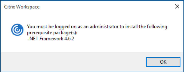 Updates to Citrix Workspace app for Windows Prerequisites