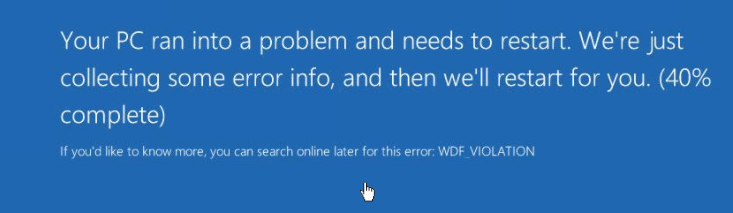 Bsod Wdf Violation Unable To Boot Target Device After Promoting Vdisk Version To Production